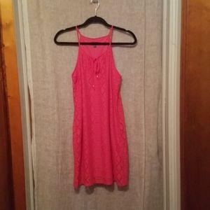 Womens Sleeveless Dress Coral Lily Rose Size M